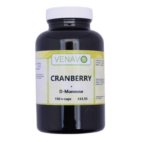 Cranberry D-Mannose 150 capsules