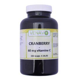 Cranberry + Vitamine C 150 capsules