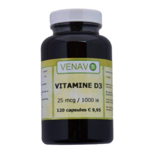 Vitamine D3 25 mcg 1000 ie capsules