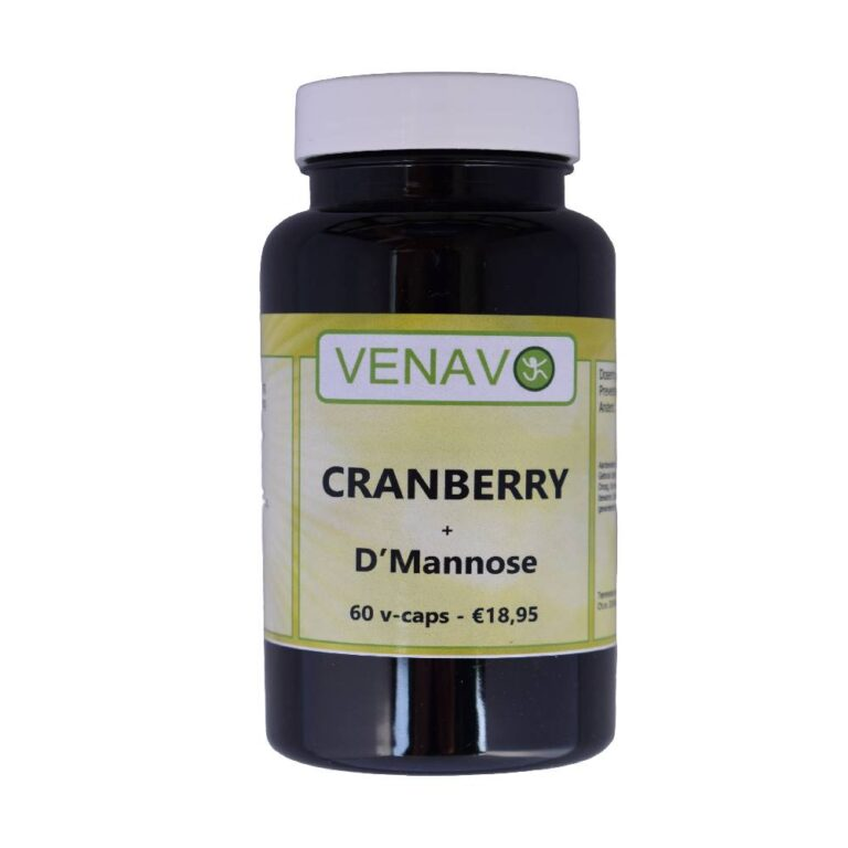 Cranberry D Mannose 90% Fruitzuren sterke formule 60 capsules